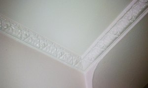 My beautiful dining room floral crown molding